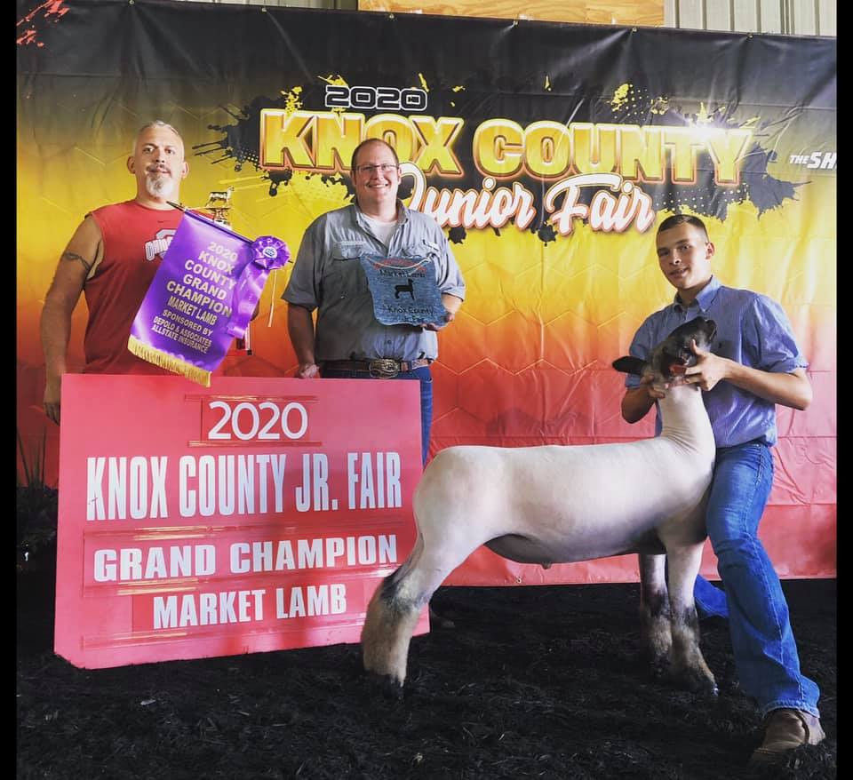 Grand Champion Market Lamb Knox County Junior Fair  Sired By: Strictly Business Shown By: Austin Anderson