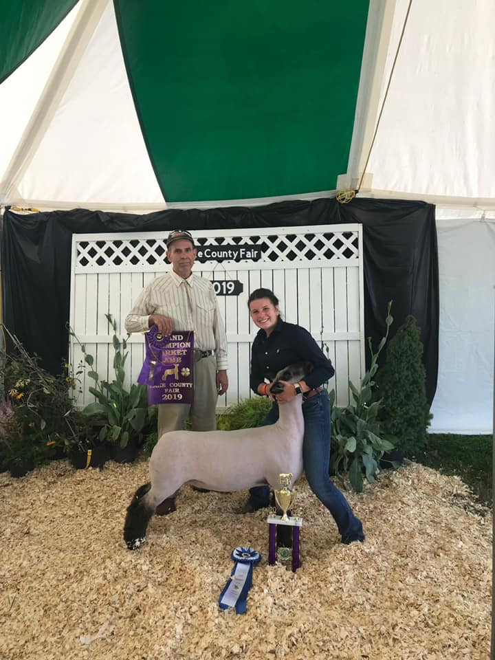 Grand Champion Market Lamb Lake County Fair Shown by: Kaitlyn Somrak Sired by Monkey Business