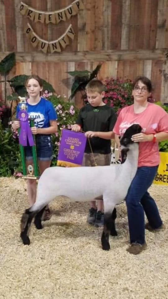 Grand Champion Market Lamb  Greenup Co. Fair Shown by: Conner Hall Placed by: Jason Percell