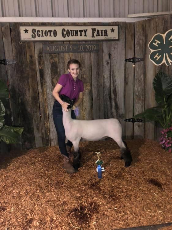 3rd Overall Market Lamb  Scioto County Fair Shown by: Olivia Percell