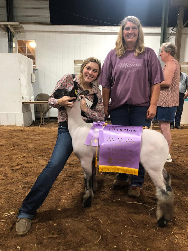 Reserve Grand Champion Market Lamb  2019 Huntingdon County Fair Shown by: Maelee Covert