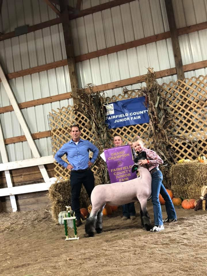 Grand Champion Market Lamb Fairfield County Fair  Sired By: Temper Tantrum Shown By: Stella Koehler
