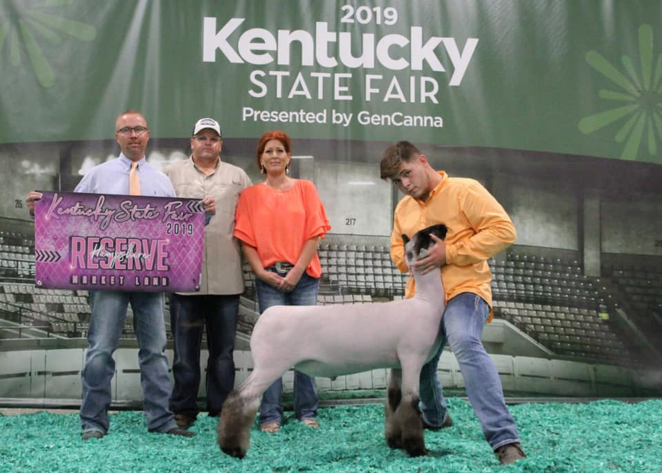 Reserve Grand Champion Hamp  2019 Kentucky State Fair Shown by: Clayton Burkes Sired by: Monkey Business Placed by: Randy Hill