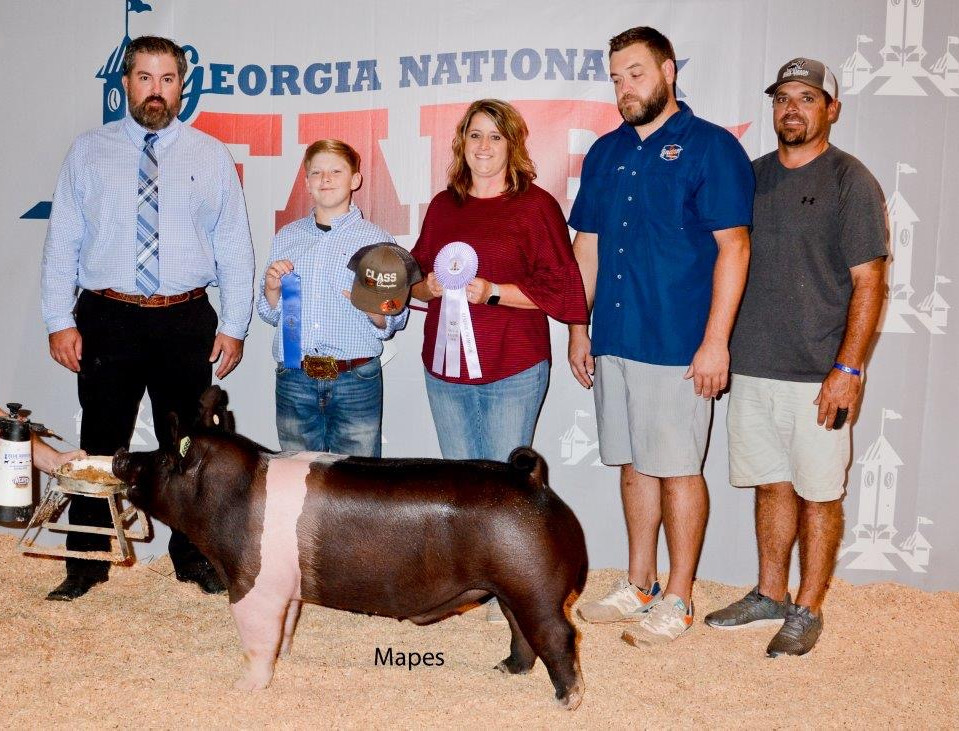 Colby Yarbrough  Reserve Heavy Weigh Barrow  Georgia National Fair  Sired by: Dirty Love'n
