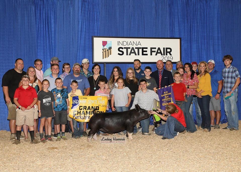 3rd Overall & Champion Berk Barrow 2019 Indiana State Fair Noah Kitterman
