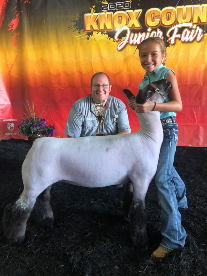 Third Overall Market Lamb Knox County Fair   Sired By: Strictly Business Shown By: Julian Ball
