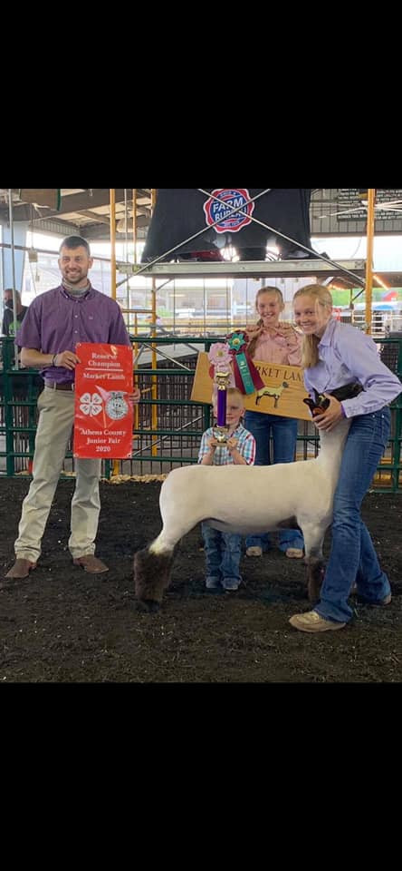 Reserve Grand Champion Market Lamb  Athens County Fair   Sired By: Strictly Business Shown By: Kyndal Snedden