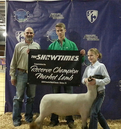 Reserve Grand Champion Market Lamb Coast