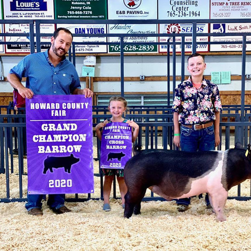 Howard County Fair, In. Grand Champion Barrow Rhyker Mauck