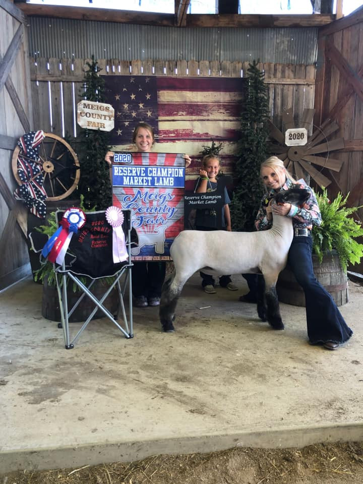 Reserve Grand Champion Market LambMeigs County Fair  Sired By: Strictly Business Shown By: Jessica Parker