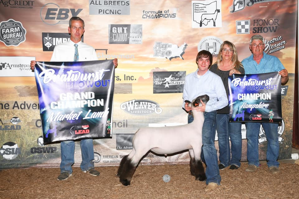 Grand Champion Market Lamb Bratwurst Blowout Sired By: Strictly Business Shown By: Weston Stevens