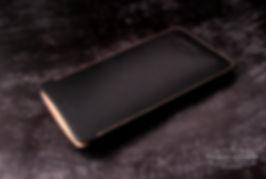 saffiano kůže černá pouzdro iphone xr