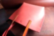 kabelak z růžové kůže