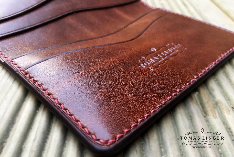 pro karty a vizitky peněženka z kůže