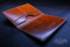 Pouzdro na pas. japan tan kůže