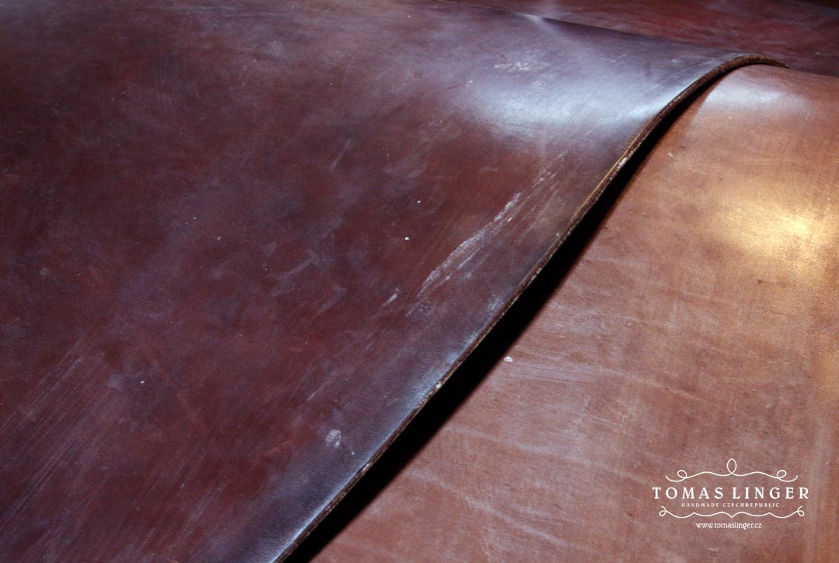 Bridle - JF&J Baker Full Grain OAK Bark. Z leva. Dark Stain, Australian Nut