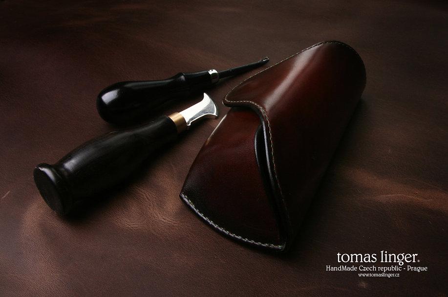 pouzdro na brýle luxusní ruční práce z kůže