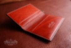 ručně vyrobená peněženka z kůže