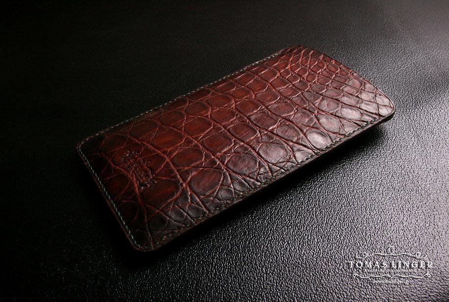 pouzdro pro iphone xr z krokodýlí aligátora kůže