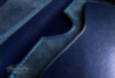 pouzdro napas modrá kůže pravá