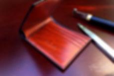 peněženka zakázková ruční výroba z kůže