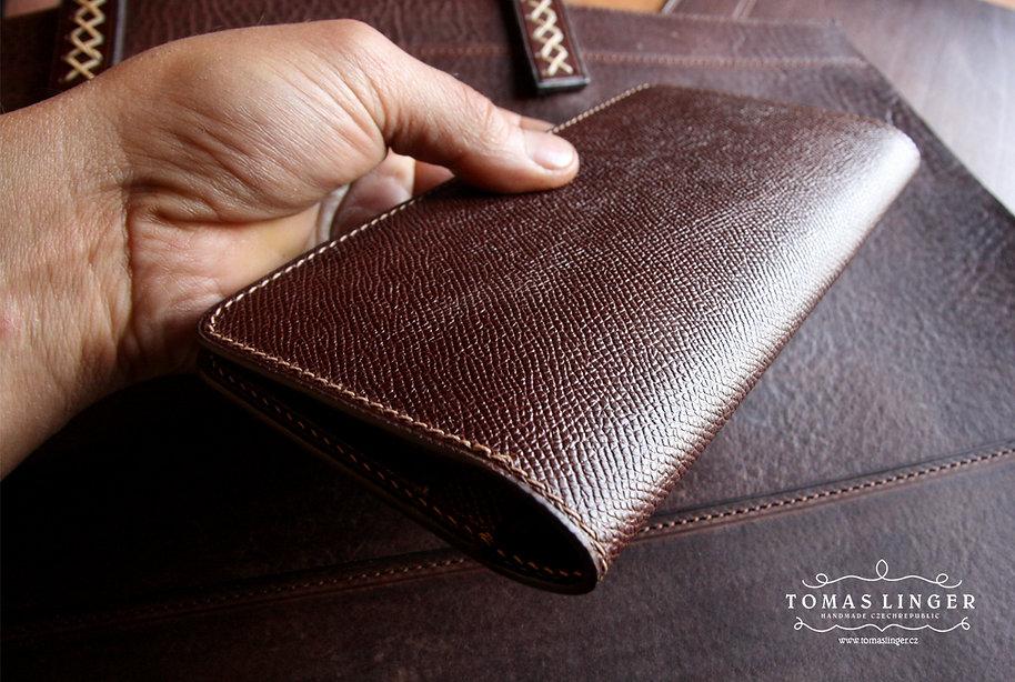 pánská peněženka z pravé kůže ručně ušitá