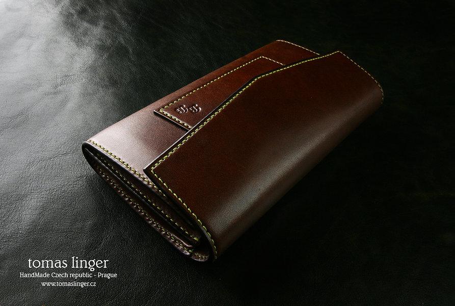 Dámská peněženka vyrobená na zakázku ručně z kůže česká republika se zipem