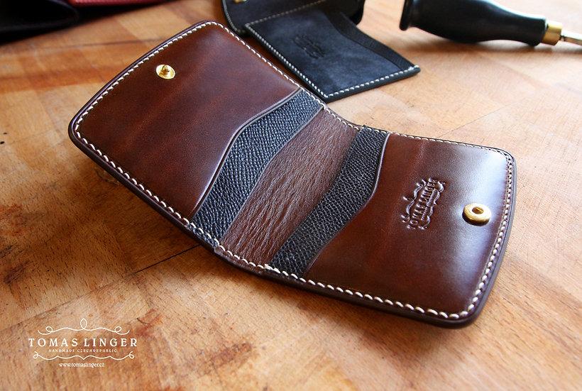 Morris 2 - elegantní peněženka pro karty a přeložené bankovky. Kompletně ručně v
