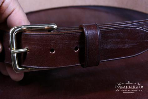 Bridle opasek z prave kuze Australian nut kuze rucne vyrobeny