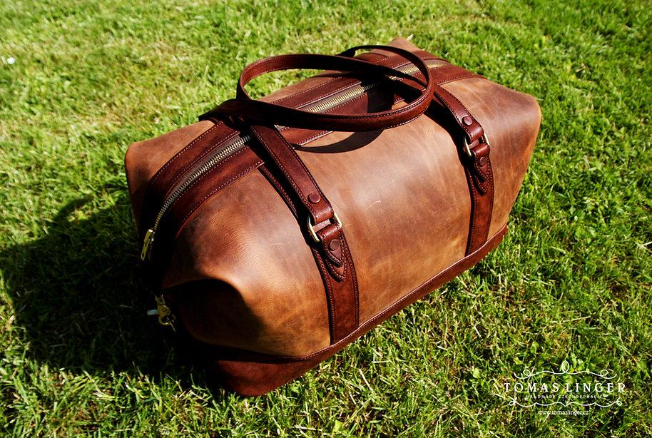 cestovní taška z kůže na zakázku