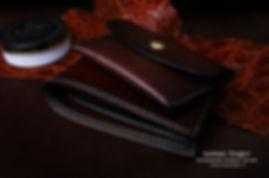 set peněženka a peněženka na drobné kůže