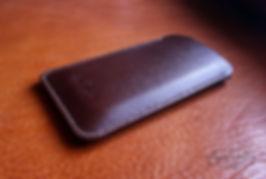 pouzdro pro telefon apple z kůže usně luxusní