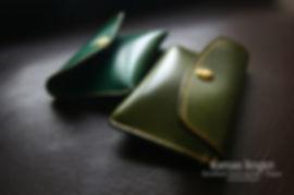 peněženka na drobné zelená kůže tomas linger