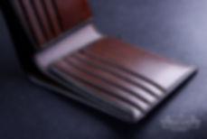 luxusni panská penezenka z kuze rucne usita