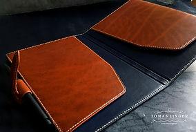 desky na sešit z kůže ručně vyrobené v České republice