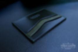 cerna tenká peněženka z kůže elegantni luxusní