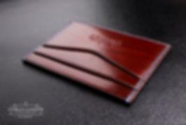 malá tenká peněženka pro karty a vizitky z kůže