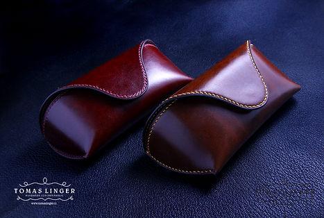 pouzdro na brýle z pavé kůže. ručně ušité. luxusní dárek.