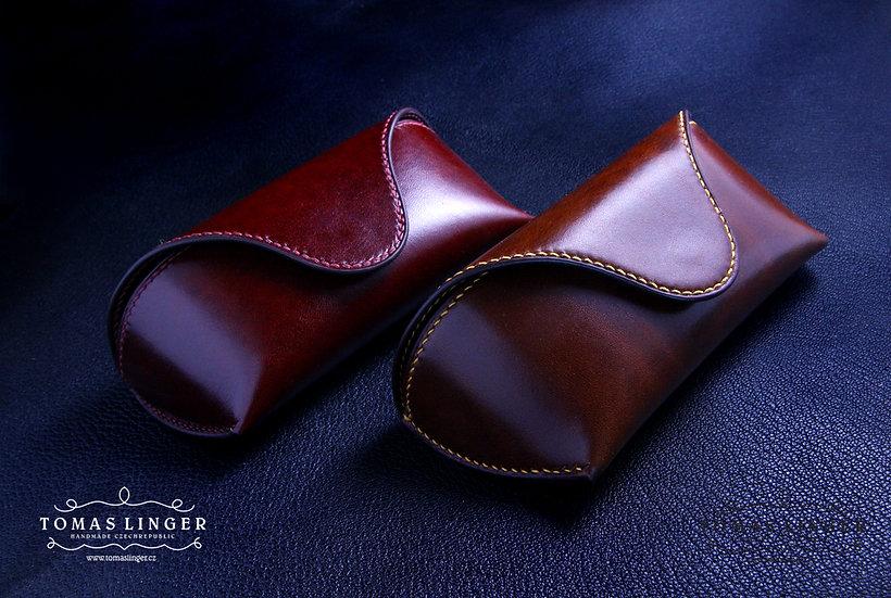Pouzdro pro brýle z kůže ručně vyrobené - dvě vrstvy kůže