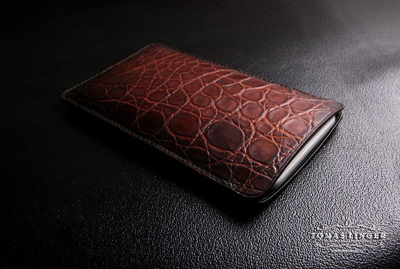 Pouzdro pro iPhone a ostatní výrobce - Aligátor - ručně vyrobené a ušité. - šest