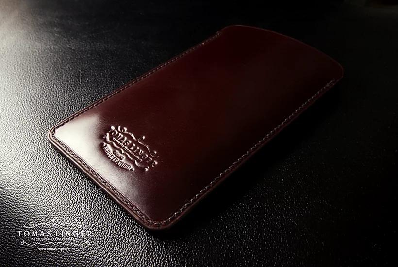 Pouzdro pro Apple iPhone z kůže - Bridle leather J.E.Sedgwick Nut