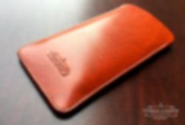 pouzdro iphonex z kůže ručně vyrobené tan japan
