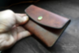 peněženka na drobné z kůže