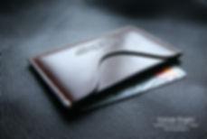 pouzdro karty vizitky bankovky malé z kůže