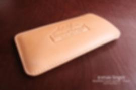 pouzdro pro iphone béžová kůže