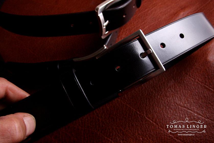pásek do kalhot z pravé kůže ručně vyrobeny