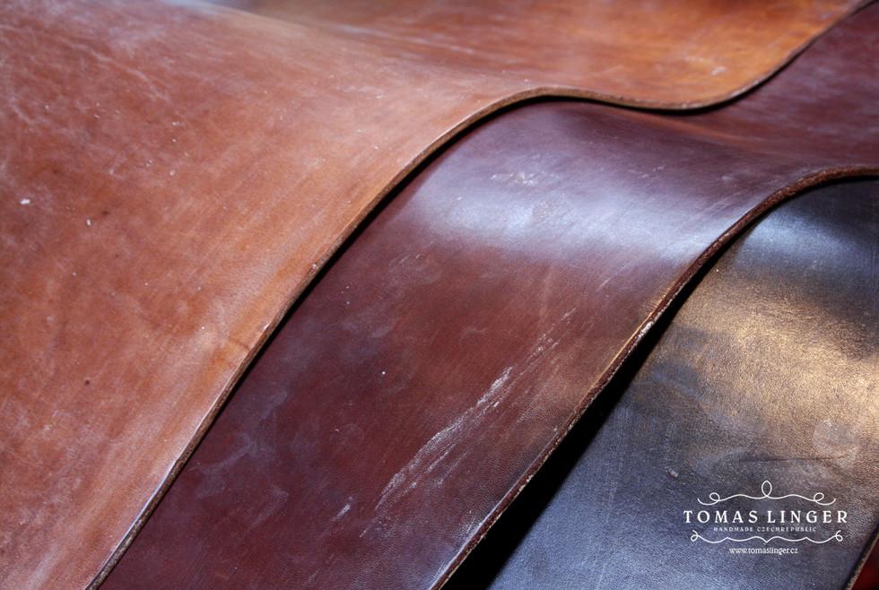 Bridle - JF&J Baker Full Grain OAK Bark. Z leva. Dark Stain, Australian Nut, Black