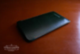 pouzdro pro telefon zelená kůže