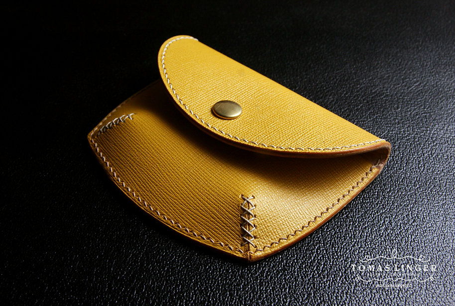 saffiano kuze zluta penezenka rucni vyroba