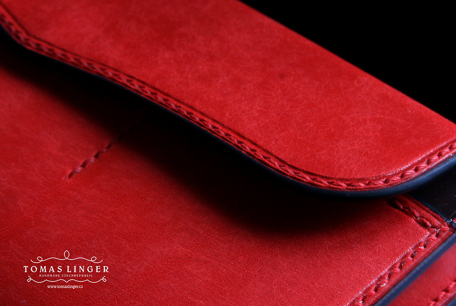 Dámská peněženka vyrobená na zakázku ručně z kůže česká republika